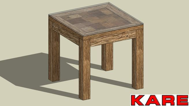 Large preview of 3d model of kare 76803 side table memory for Table 50x50