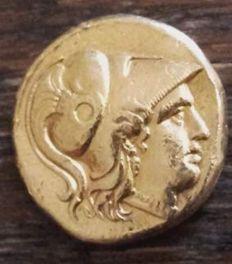 Grecia antica - Regno di Macedonia oro statere (in nome e lo stile di Alessandro III il Grande, 336-323 aC), intorno al 311-306 aC Babilonia
