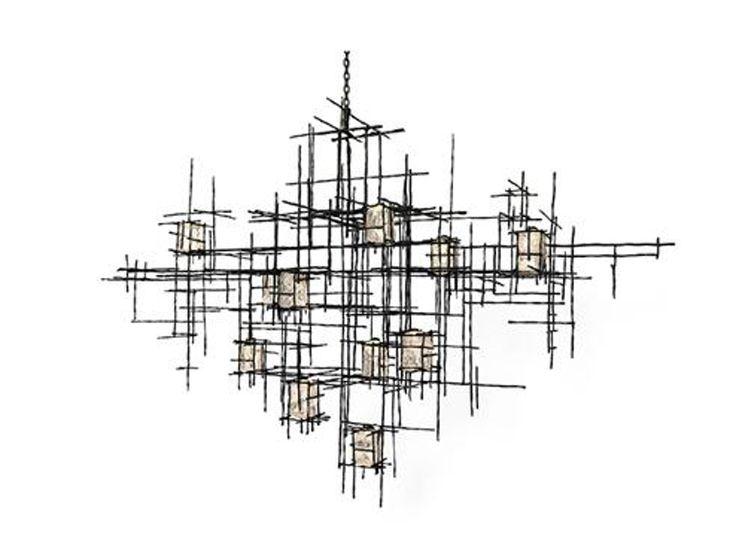 Ferro Vitro Hanging Light By Cox London  Industrial, Metal, Chandelier by Thomas Lavin