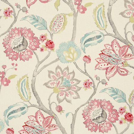 Mariam - Aqua fabric, from the Indienne collection by Clarke and Clarke