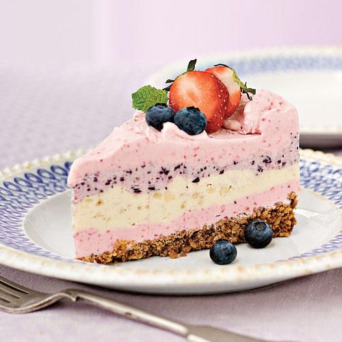Recipe: Strawberry-Pretzel Icebox Pie  Not only is this a gorgeous dessert, but the combination of salt from the crushed pretzels and sweetness from the strawberries