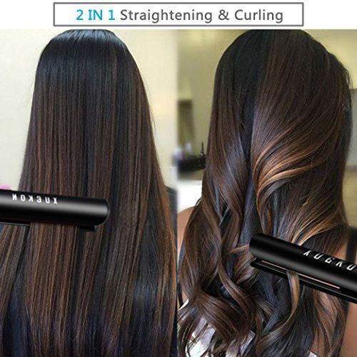 Dual Voltage Adjustable Temperature Ceramic Hair Straightener Flat Iron