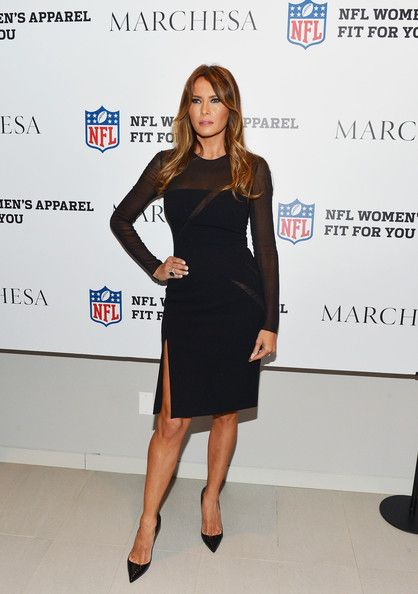 Melania Trump Photos Photos - Melania Trump attends the Limited Edition Marchesa/NFL Collaboration Launch at National Football League on October 2, 2012 in New York City. - Limited Edition Marchesa/NFL Collaboration Launch