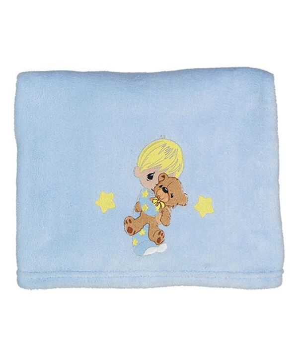 Look at this Blue Embroidered Bear Baby Blanket on #zulily today!