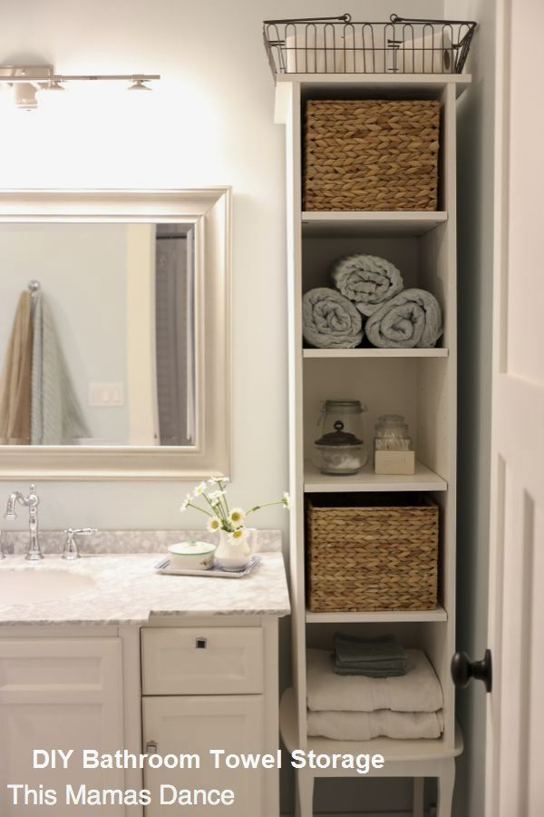 Small Bathroom Towel Storage In 2020 Bathroom Storage Solutions Small Bathroom Storage Bathroom Towel Storage
