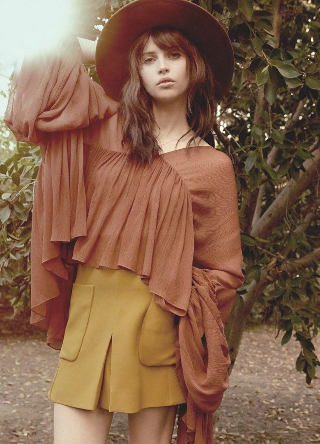 Felicity Jones for InStyle UK, March 2015