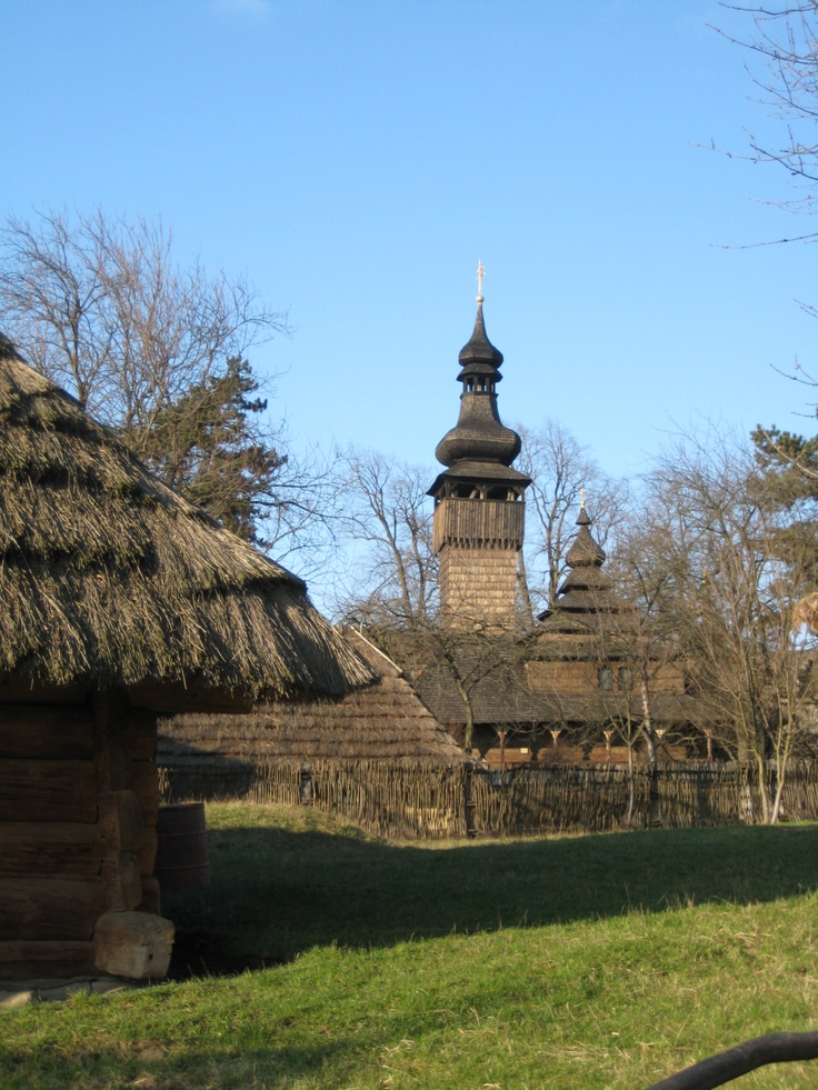 Wooden town, Uzhgorod (Ukraine)