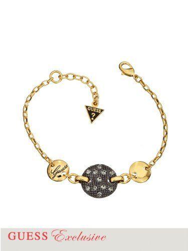 GUESS Crystal Disc Station Bracelet,