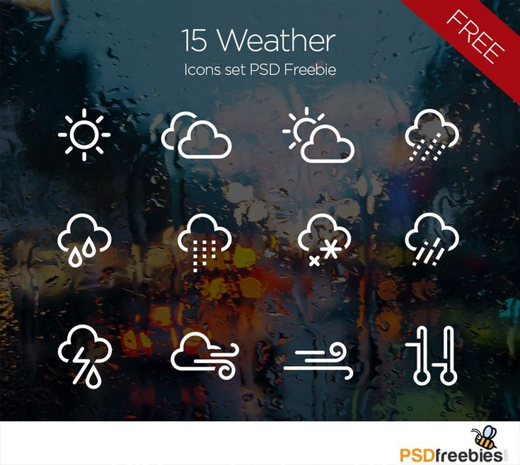 Download 15 Weather Icons set PSD Freebie. This weather icon sets includes a vast variety of sunny and cloudy weather, clear and misty weather, hail, fog, snow weather icons and so on. We hope that you will like this collection and find something worthy for you.
