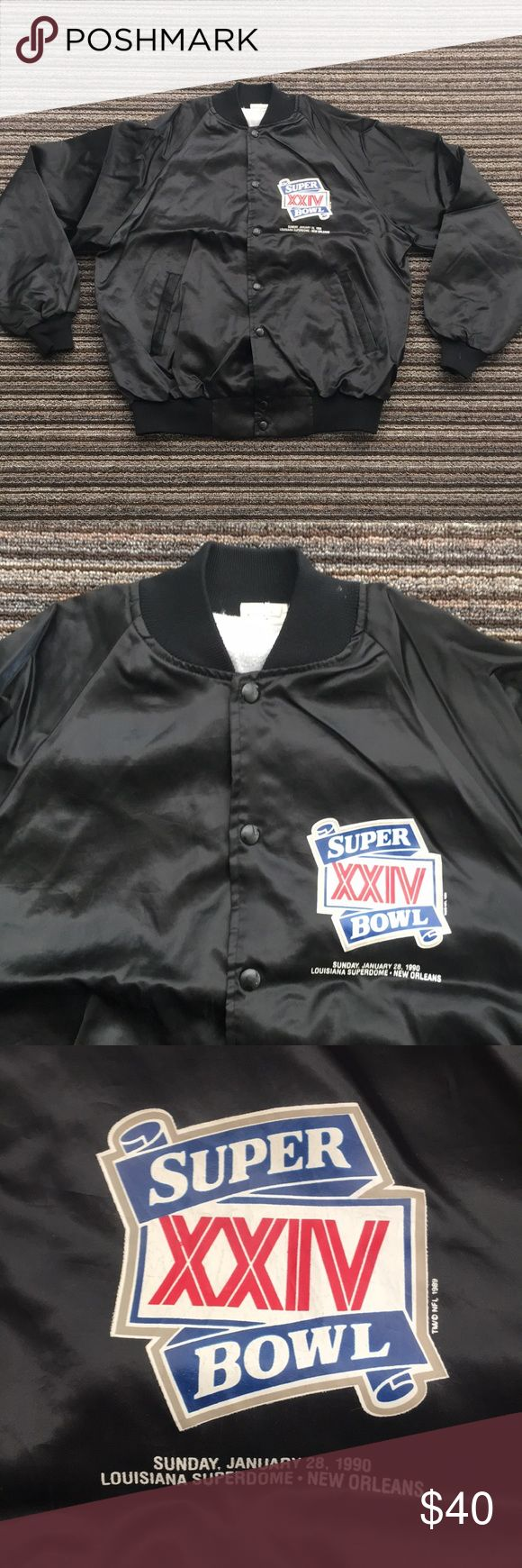 Vintage NFL Super Bowl 1990 New Orleans Jacket L Size Large. In Great Pre Owned Condition. T2 NFL Jackets & Coats