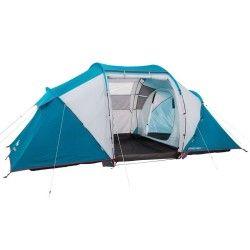 Tente de camping familiale Arpenaz family 4.2   4 personnes bleue