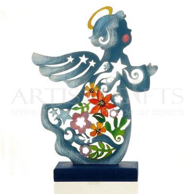 Άγγελος Περίγραμμα Με Στεφάνι & Λουλούδια Σε Βάση αποκτήστε τον εύκολα Online http://www.artistegifts.com/aggelos-perigramma-stefani-louloudia-vasi.html