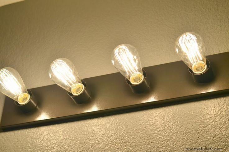 Easy Update For Builder Grade Bathroom Lighting  - update without replacing!