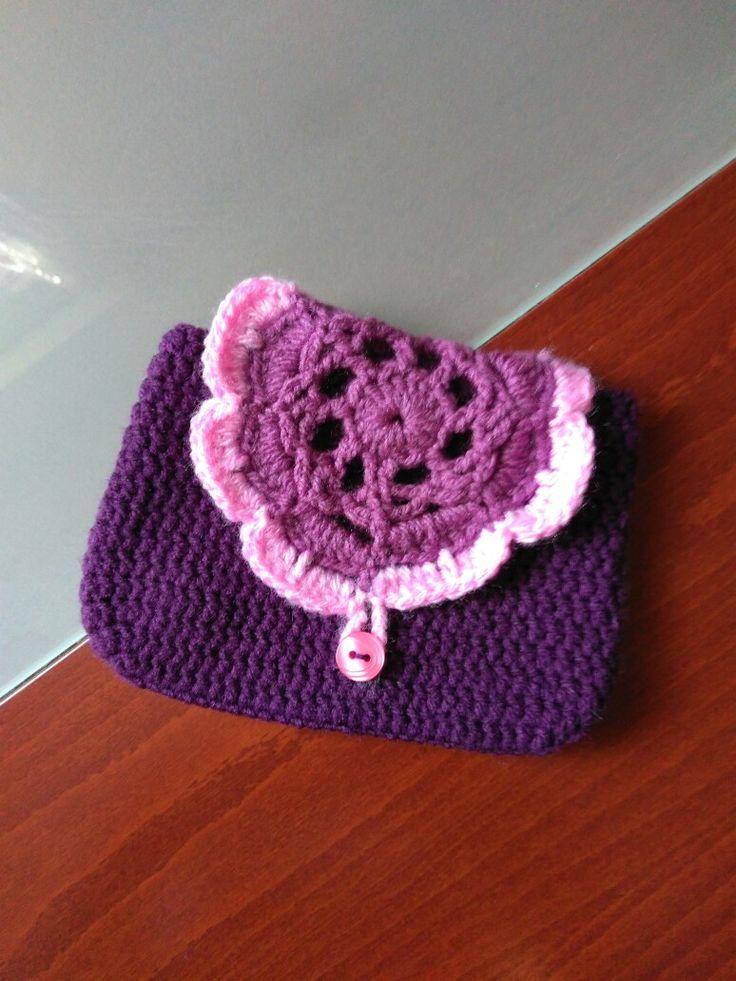 Νεσεσερακι σε μωβ αποχρώσεις #crochet #handmade #creations #nessesaire #purple #pink #mywork #metaxerakiamou #neraidodhmiourgies