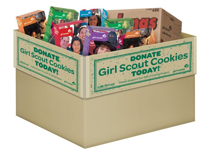"Cookie donation box. You can print out the ""Donate"" flaps from this site."