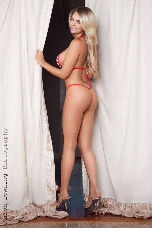 Tits string bikini huge hot girl