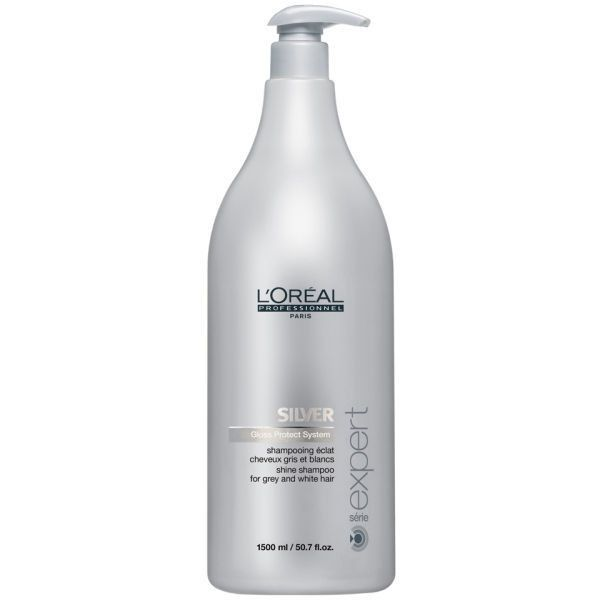 L'Oreal Professionnel Serie Expert Silver Shampoo - 1500ml (Pump Not... (80 CAD) ❤ liked on Polyvore featuring beauty products, haircare, hair shampoo and l'oréal paris