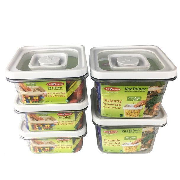 Chef Concepts Vt5qt Rv Camping Press Lock Food Storage 5 Pack