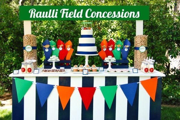 play ball party with field concessions