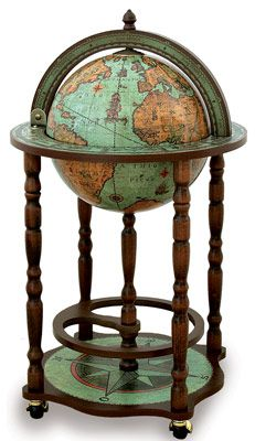 Old world globe bar... way too posh and pretentious, but I still want it... ;)