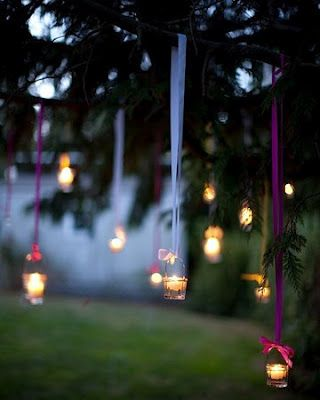 Pretty garden lights
