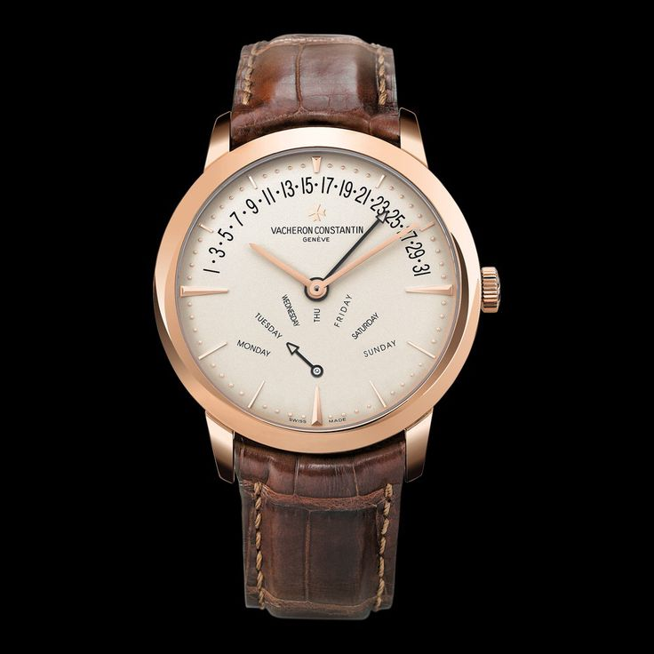 PATRIMONY RETROGRADE DAY-DATE Reference: 86020/000R-9239 Shape: Round Diameter (mm): 42.50 Thickness (mm): 10.02 Material of the case: 18K 5N pink gold Water-resistance (bar): 3 Informations Watch strap material: alligator Mississippiensis Watch strap color: dark brown Type of buckle: Deployant buckle Buckle material: 18K 5N pink gold