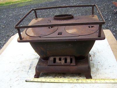 Small Vintage Cast Iron Wood Burning Stove Old Stuff