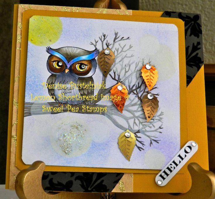 Denise using 'Owl On A Branch by Lemon Shortbread'