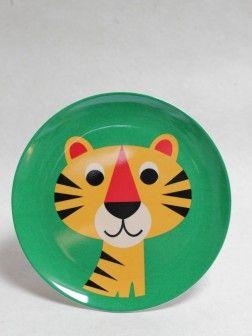 Melamine Plate, Curious Tiger, OMM Design