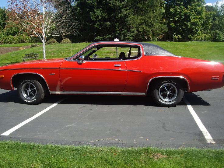 My Second Car was a 1973 Plymouth SATELLITE that was pretty similar to this one...  It had a dual Flowmaster Exhaust system with American Racing Wheels and BF Goodrich tires