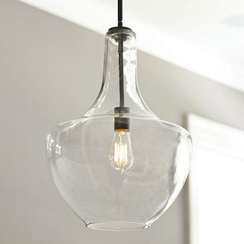 Sawyer 1-Light Pendant love the look of clear glass with vintage bulb