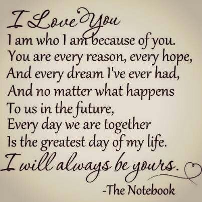 you are the greatest love of my life