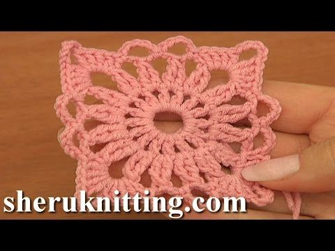 Crochet Round Motif Tutorial 10 Part 1 of 2 Crochet Circle Pattern - YouTube