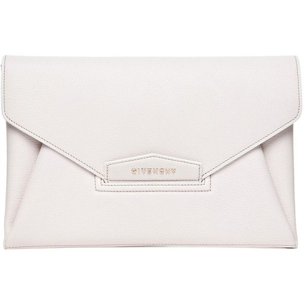 GIVENCHY Antigona Envelope Clutch in Ivory ($1,280) ❤ liked on Polyvore