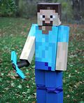 Minecraft Steve Costume - 2014 Halloween Costume Contest
