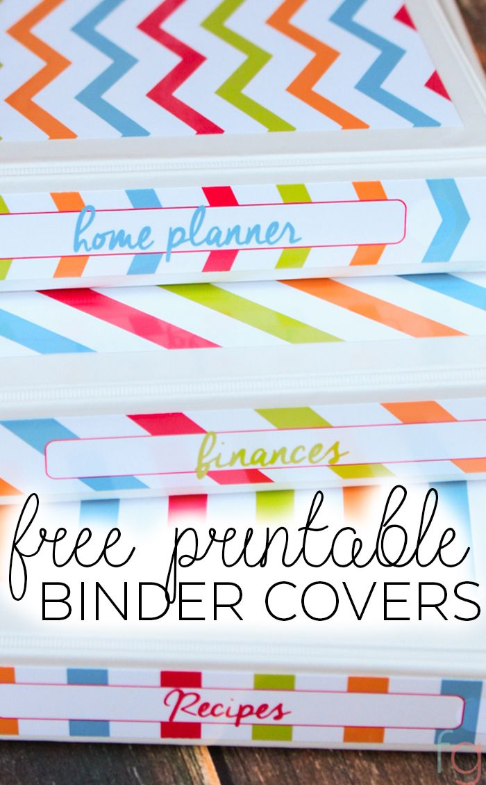 Free Binder Covers Printable - Recipe Binder, Finance Binder and Home Planner…