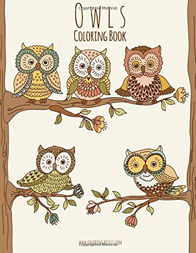 Owls Coloring Book 1 By Nick Snels Amazonca
