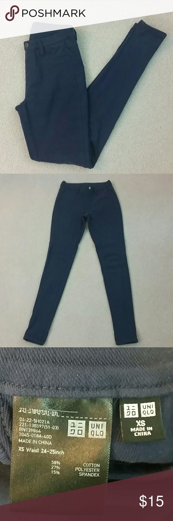 Uniqlo leggings pants Uniqlo dark blue leggings pants. Super comfortable. UNIQLO Pants Leggings