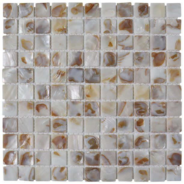 Shell Mosaic Tile White Square Mosaic Tile For Kitchen Bathroom Backsplash 12 X 12 6 Pack Walmart Com In 2020 Shell Mosaic Tile Shell Mosaic Mosaic Tiles