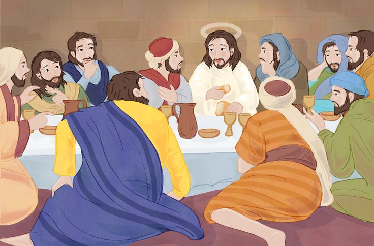 The last supper.  #christiantwitter #Jesus #lastsupper #bible #illustration #ChildrensBooks #chantelleandburgenthorne