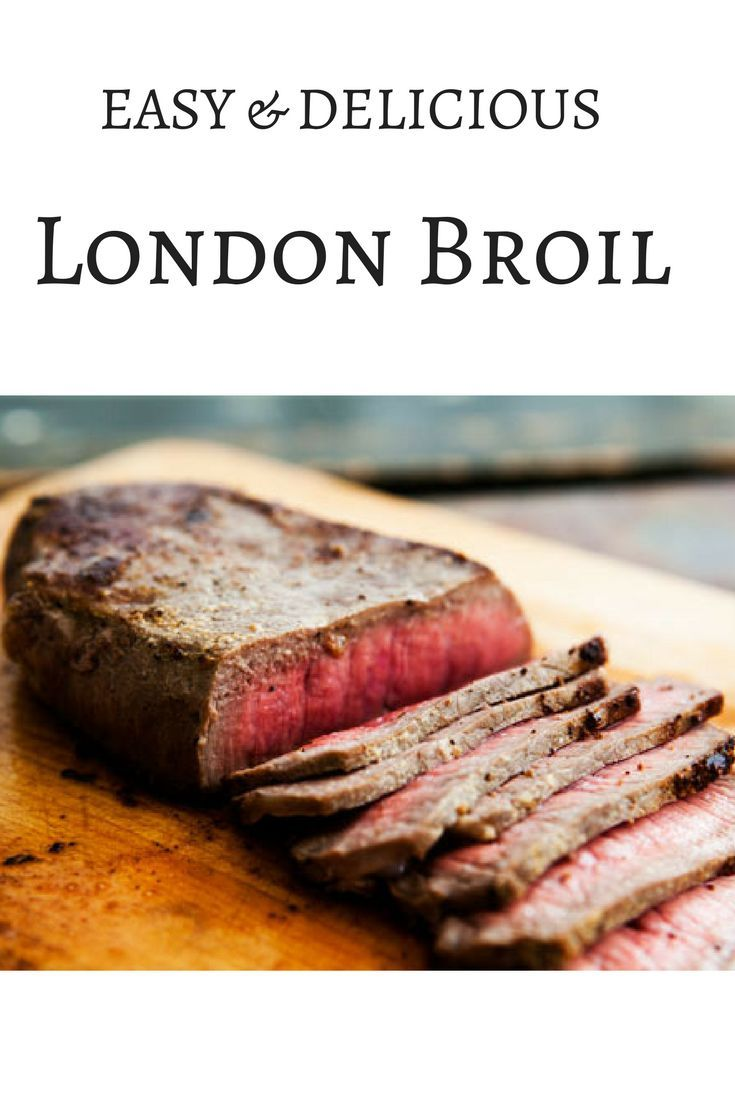 Great easy and simple London Broil recipe for weekday or weekend dinners. Leftovers are great for lunch, too. Share this recipe!