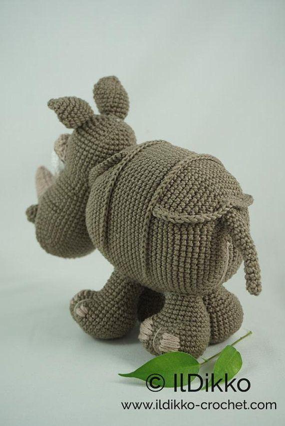 Amigurumi Crochet Pattern Ronald The Rhinoceros English Version