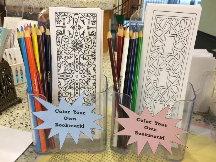 """thecommonlibrarian: """" robotpancreasattack: """" Made some bookmarks at work today! """" This is a fantastic idea - I'm going to look into this for my library. """""""