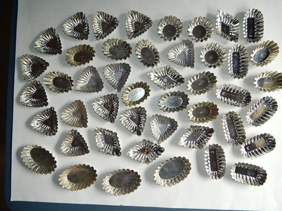 45 Sweden  Germany Miniature Aluminum Metal Tart Tins Oval #vintage #baking #germany #pastry