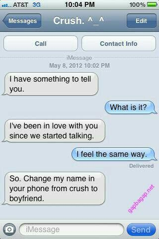 #Funny Text Message About Crush vs. Boyfriend