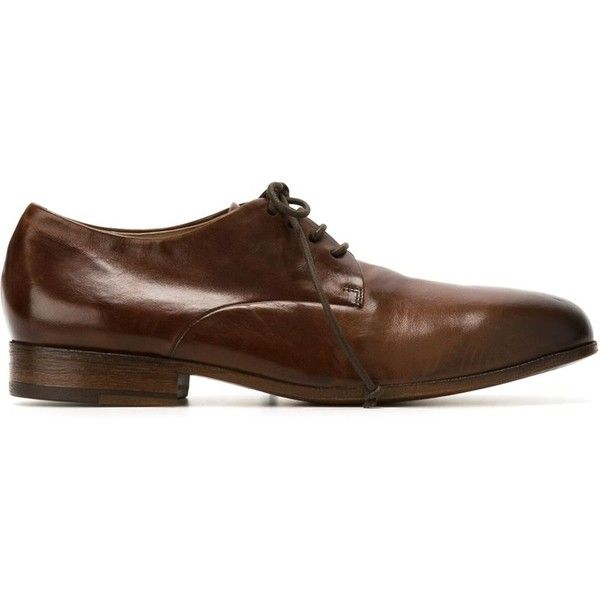 Marsèll Classic Derby Shoes ($672) ❤ liked on Polyvore featuring men's fashion, men's shoes, marsell mens shoes and mens derby shoes
