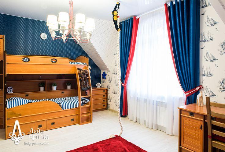 Детская комната в морском стиле. Декоратор Толстихина Елена.