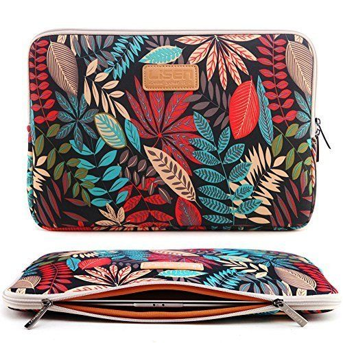CoolBell(TM)15.6 Inch Laptop Sleeve Case With Colorful Leaves Pattern Ultrabook Sleeve Macbook Canvas Bag For Acer/Asus/Dell/Toshiba/Lenovo/Macbook Pro/Macbook Air/Women/Men/Teens,Black, http://www.amazon.com/dp/B0192PQ6EW/ref=cm_sw_r_pi_awdm_LogQwb1D6VDHV