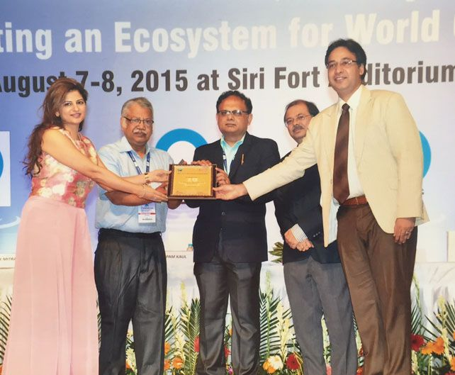 """Awarded the Quality Council of India - DL Shah National Quality Award 2015 for their project on """"Dental Tourism"""""""