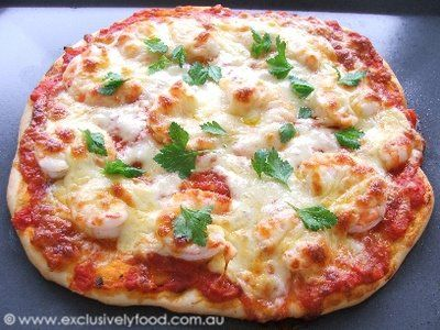 Exclusively Food: Prawn Pizza Recipe